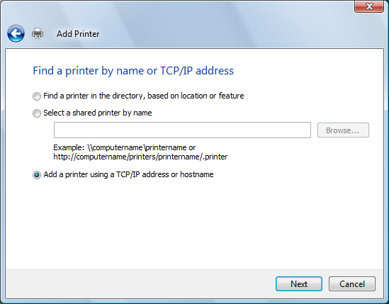 Find Printer not listed
