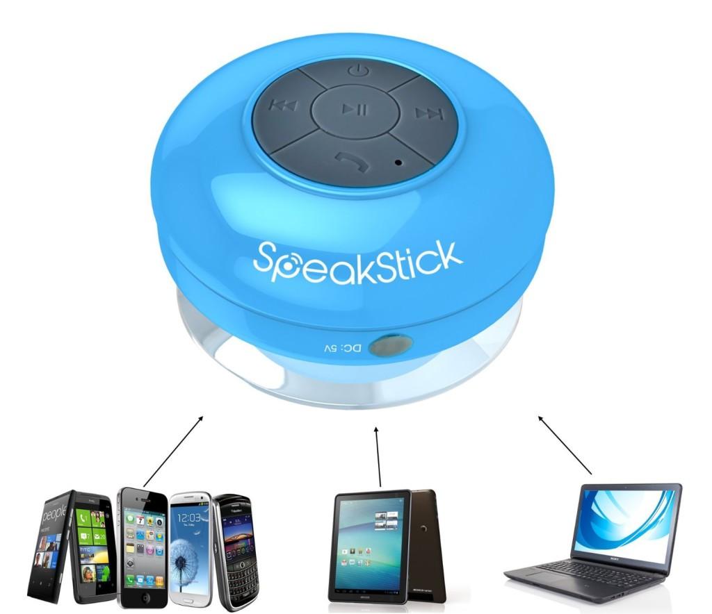 Enjoy Matchless Sound Via Speakstick Bluetooth Shower Speaker