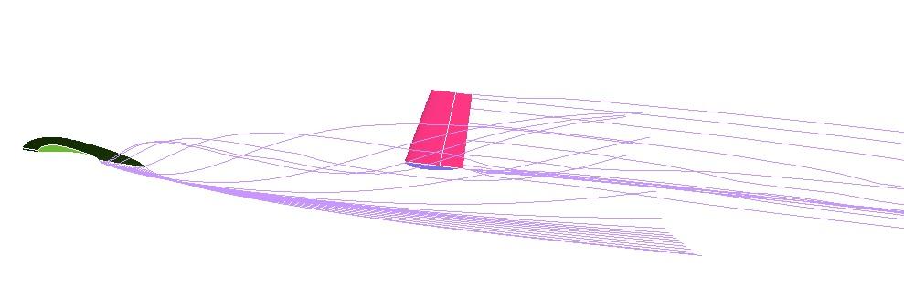 Grifo IIB. Análisis de la estela sobre la cola.