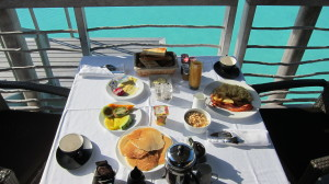 Room Service Breakfast on the Deck for $55!