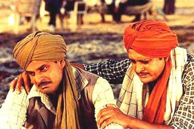 Pinjar, 2003:  In this adaptation of Amrita Pritam's Partition-era novel, Bajpayee (left) plays a Muslim man who weds an unwilling Hindu woman but eventually wins her love. He won a Special Jury National Award for the partition drama.