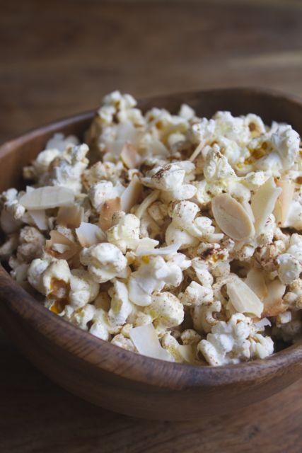 Cinnamon & Toasted Coconut Stovetop Popcorn