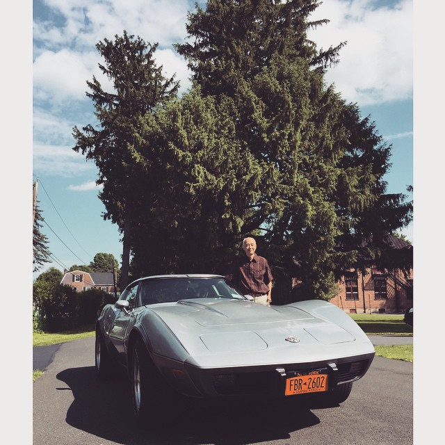 Happy Father's Day! My dad wagered his one prized possession: a '78 Stingray Corvette in exchange for a high SAT score. A silly wager for a girl who didn't care for cars, only a good challenge- that I won! And I went to art school anyway so it didn't matter in the end, haha!  @tomsit221