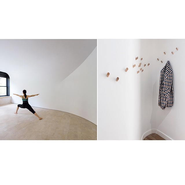 So happy to see this Dreamy space designed by Clouds Architecture Office featured on @dezeen,  #lightandladderhome wall hooks placed so fluidly.