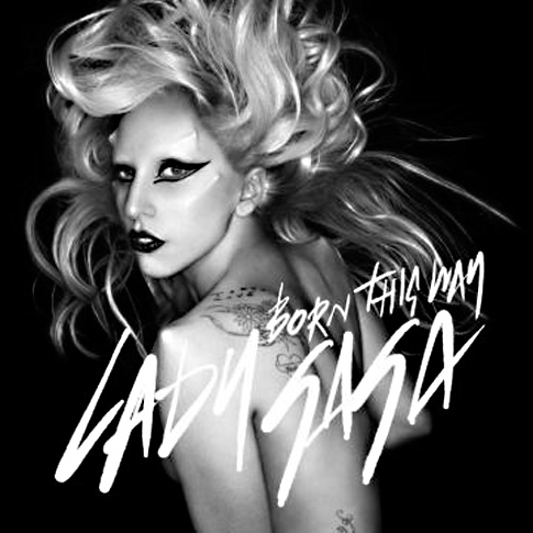 Lady Gaga tweeted this racy CD cover art for her upcoming album 'Born This Way,' out Friday.