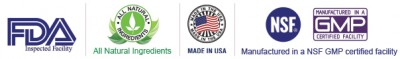 All Natural ingredients, made in USA and manufactured in a NSF GMP certified facility and inspected by The F.D.A