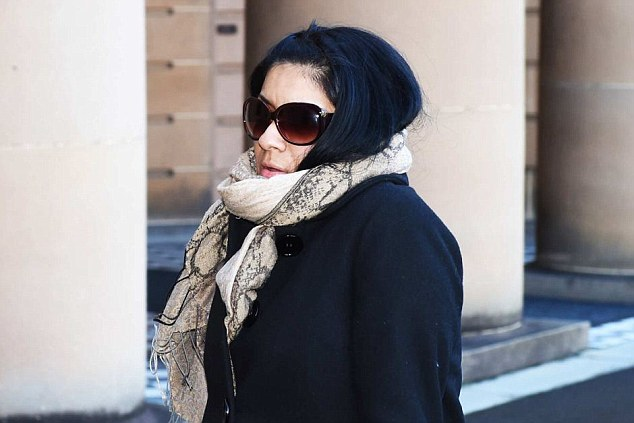 Relief: Marcela Castaneda (pictured) leaves court after a jury found her not guilty by reson of self defence of killing herAmerican fiancé in the neck with a knife in their suburban Sydney home in 2013 during a heated fight after she ended their engagement and he lunged at her, choking her, and she stabbed him through the heart