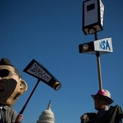NSA Protestors in costumes
