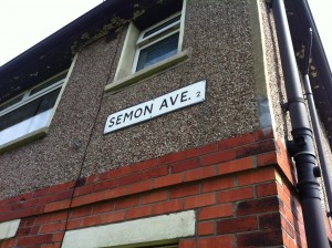 Semon Avenue on the Swain House Estate in North Bradford, named in honour of a former Lord Mayor.