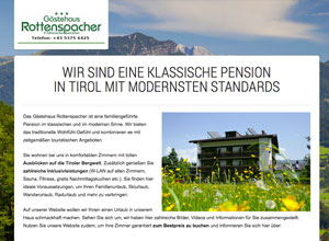 Screenshot: Website Gästehaus Rottenspacher