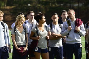 "QUANTICO - ""Run"" -- A diverse group of recruits has arrived at the FBI Quantico Base for training. They are the best and the brightest, so it seems impossible that one of them is suspected of masterminding the biggest attack on New York City since 9/11. ""Quantico"" airs SUNDAY, SEPTEMBER 27 (10:00-11:00 p.m. ET) on the ABC Television Network. (ABC/Guy D'Alema) JOHANNA BRADDY, PRIYANKA CHOPRA, JAKE MCLAUGHLIN"