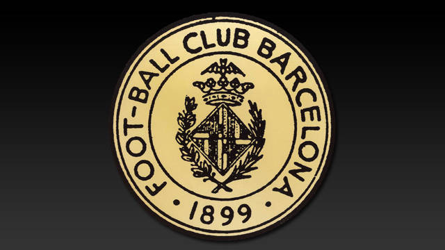 Image of the first ever FC Barcelona crest, which was identical to the arms of the city