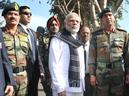 Prime Minister Narendra Modi, flanked by Chief of the Army Staff Gen. Dalbir Singh (left) and National Security Adviser Ajit Doval, is given a presentation on the combing operations at the Pathankot airbase on Saturday. Photo: PIB