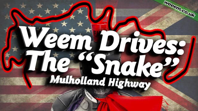 WeemUSA: The Snake: Mullholland Highway in a new Dodge Challenger