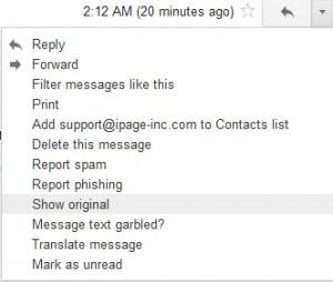 gmail headers