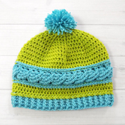 Free Crochet Pattern: Uptown Cable Beanie