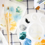 Learn to paint with friends and Social Artworking | via confetti sunshine