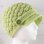 Celtic Dream Newsboy Hat Crochet Pattern