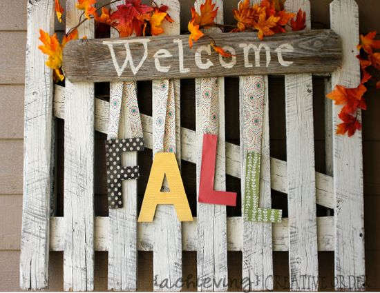Easy Fall Project for Front Porch!