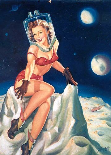 astronaut pin up