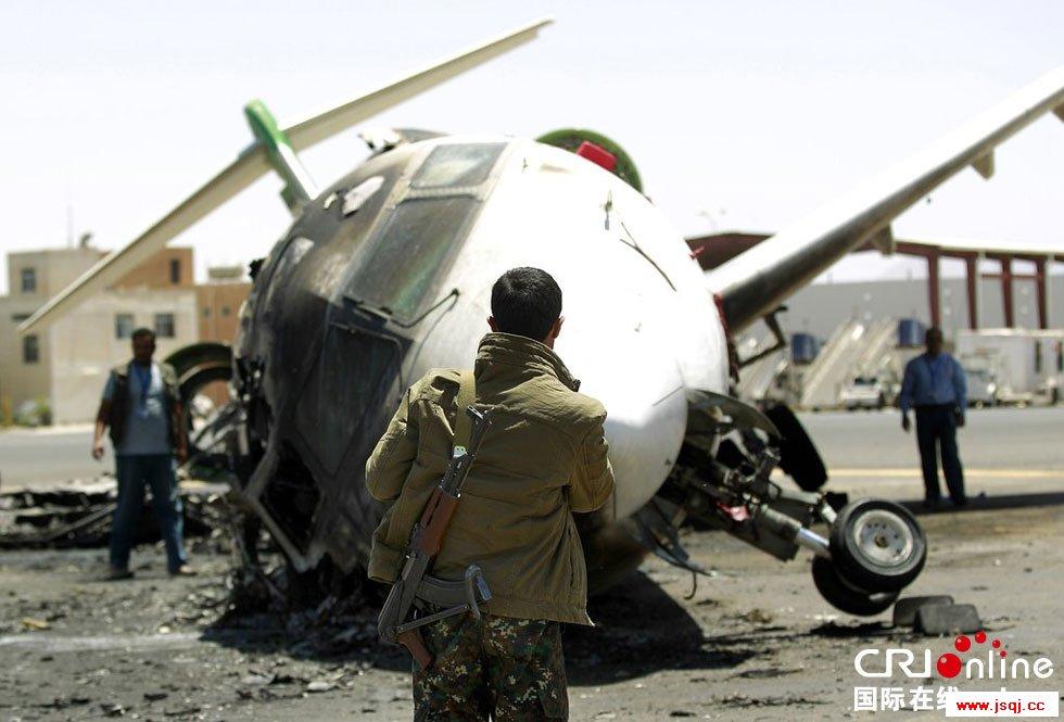 沙特空袭也门首都机场 试图阻止伊朗飞机着陆