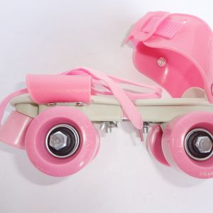 close up neodymium infused roller skates