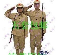 八路军新四军表演服土黄色红军演出服定做舞台电视剧服装吉臣服饰