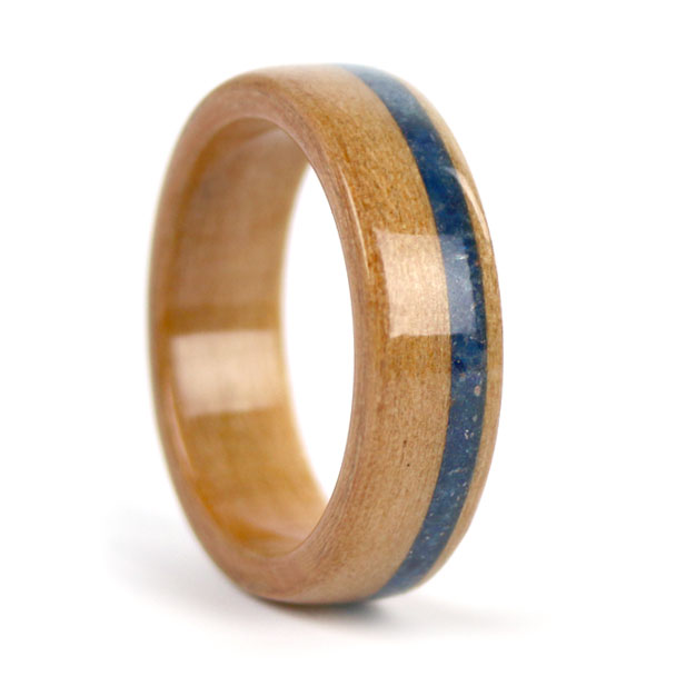 Willow Sapphire Birthwood Wood Ring