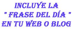Frase del día en tu web