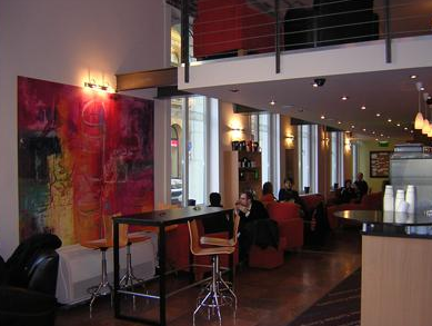California Coffee Company Coffee House in Budapest downstairs