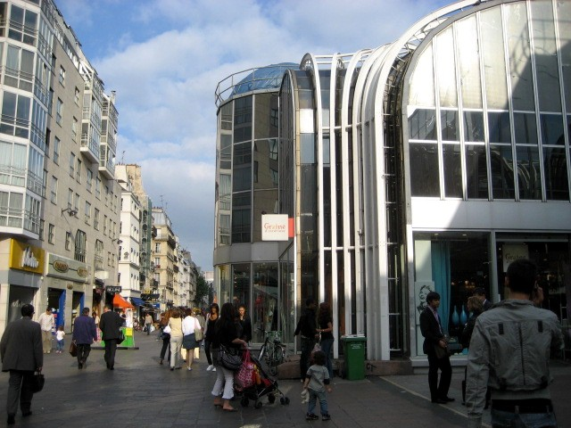 The area around Les Halles or
