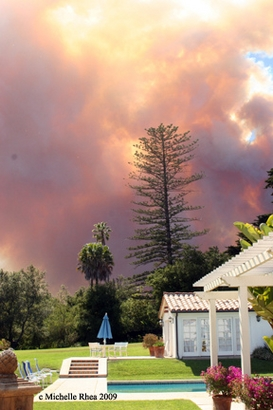 Smoke from the Jesusita fire is seen from Montecito, Calif., ...