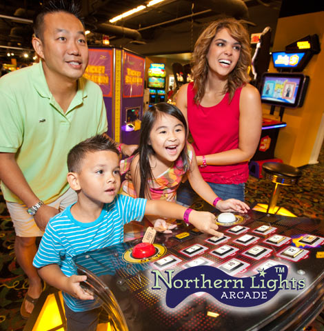 Great Wolf Lodge is the home of Northern Lights Arcade with tons of games throughout.