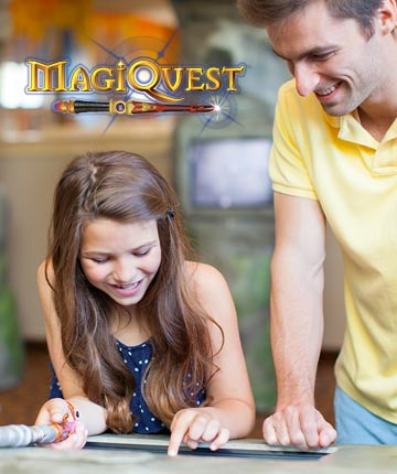Be sure to play MagiQuest and our other interactive adventure games when you visit Great Wolf Lodge.