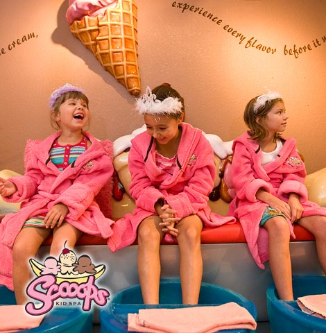 Make great memories at Scooops Kid Spa at Great Wolf Lodge.