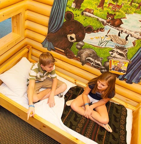 Book your next family getaway to Great Wolf Lodge in our one-of-a-kind themed Wolf Den Suites.