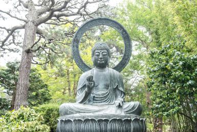 Buddha in Tea Garden - © Steve Prezant / Getty Images