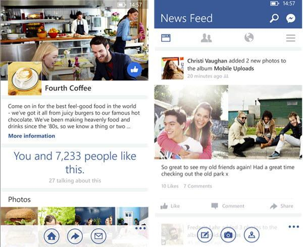 Facebook dla systemu Windows Phone