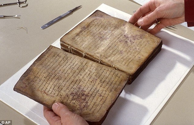 Tatters: The script, given its name because it has been written on more than once after the original writing has been scraped or rubbed off, was 'in bits' when it arrived at Walters Art Museum more than 12 years ago