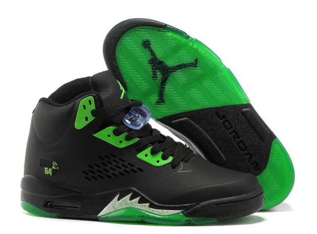 Womens Air Jordan 5 Black Green