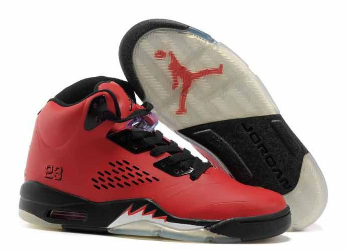 Womens Air Jordan 5 Bull Red Black