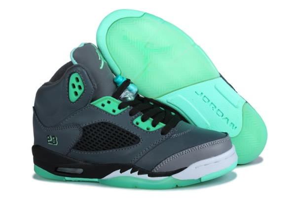Air Jordan Retro 5 Prairie Green Mens Womens shoes