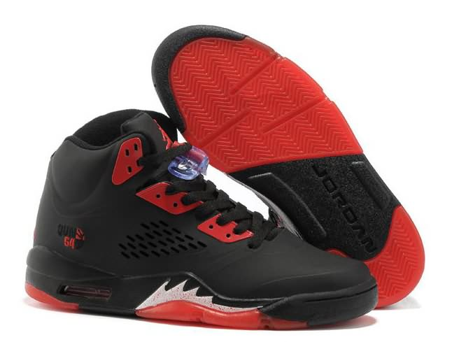 Womens Air Jordan 5 Black Fire Red