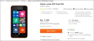 Nokia Lumia 530 Flipkart