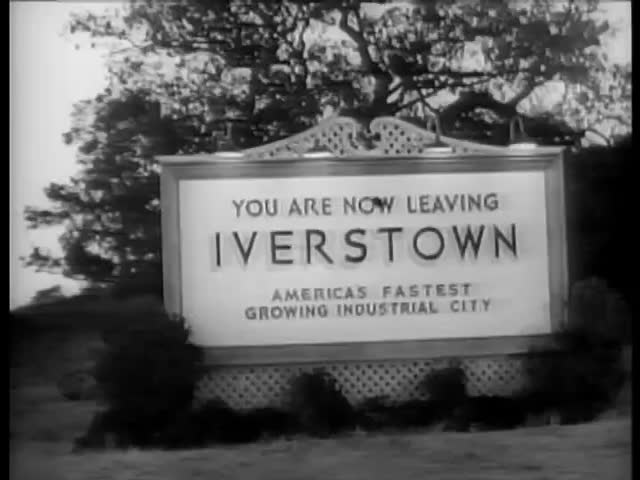 Strange Love of Martha Ivers Iverstown sign