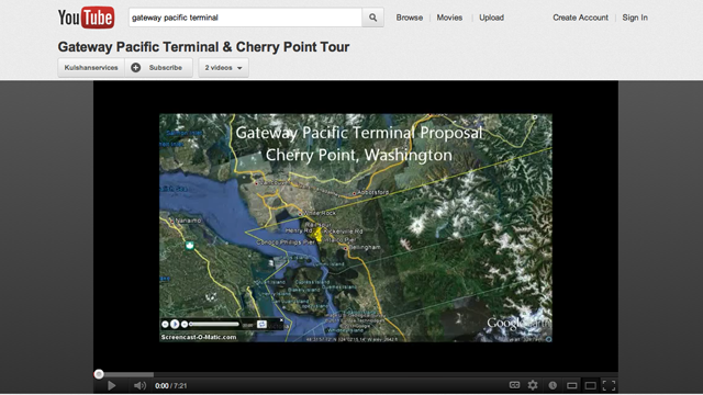 Google Earth Flyover of Cherry Point and the GPT Site