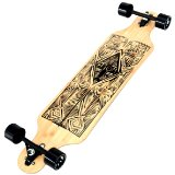 Atom Longboards Bamboo Drop Through Longboard, Tiki