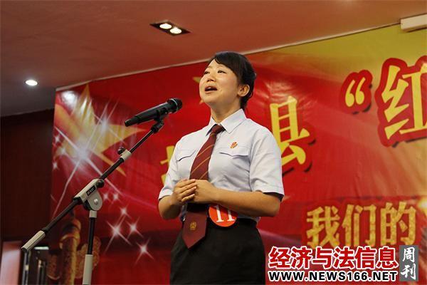 盐津法院杨青在全县演讲比赛中夺冠
