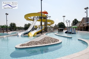 Slide complex at the Aquatic Center