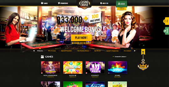 The homepage of Casino Cruise
